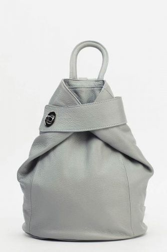 Leather Wrap Front Backpack - Light Grey